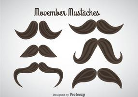 Movember Moustaches Vector
