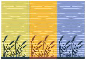 Rice Wallpaper Ilustração do vetor da casa