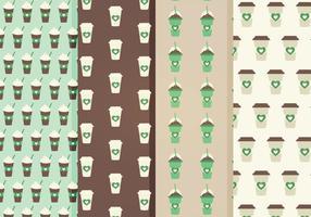 Padrões de vetores de café grátis