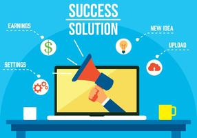 Vector de solução de sucesso grátis