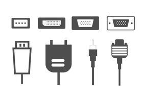 Vectores de conectores de computador HDMI