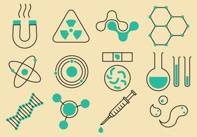 Ícones de ciência e tecnologia vetor