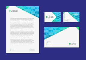 Letter Head Design Business Cards Artigos de papelaria de identidade corporativa vetor