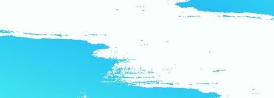 design de banner aquarela abstrata escova azul vetor