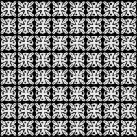 teste padrão de flor estilizada abstrata sem costura padrão vetor