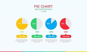 design de infográfico de gráfico de pizza de negócios vetor