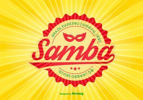 Ilustração colorida do vetor da samba