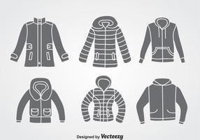 Conjuntos de vetores de inverno e casaco