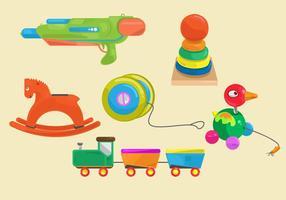 Vetor de brinquedos divertidos para crianças