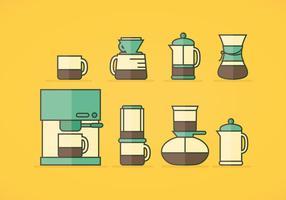 Ícones do café vetorial vetor