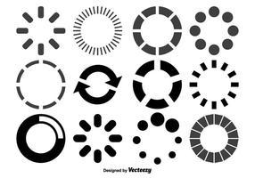 Carregando conjunto de forma de círculos vetor