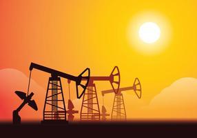 Iluminação do campo petrolífero vetor