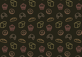 Vector de padrão de padaria grátis
