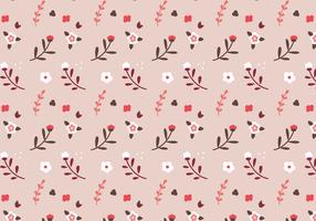 Vetor rosa padrão floral rosa