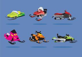 Vector Ilustration do Snowmobile