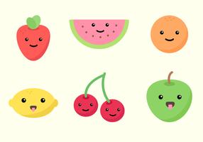 Vetor de fruta sorridente grátis