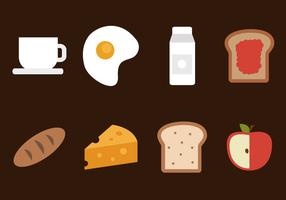 Vector de café da manhã grátis