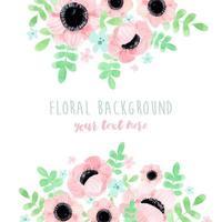 fundo de buquê floral papoula rosa vetor