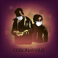 coronavírus atacando pessoas vetor