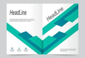 modelo de capa de relatório anual. vetor