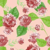 folhas e rosas vintage