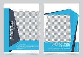 conjunto de capa do relatório anual vetor