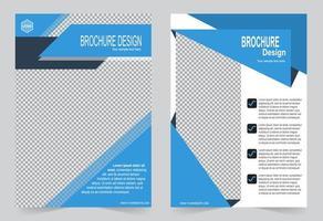 capa de informações do folheto azul vetor