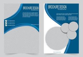 capa de panfleto de círculo azul vetor