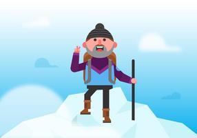 Alpinista do vetor everest