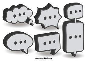 3d dialog bubble vectors