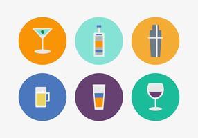 Ícones de vetores de cocktails gratuitos