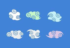 Pacote de vetores de nuvens chinesas grátis