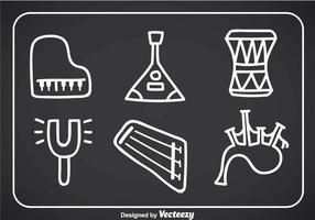 Instrumentos de música Doodle Vector Icons