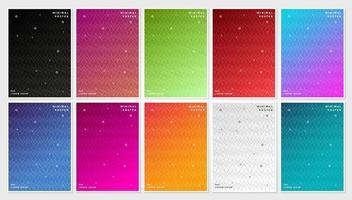 capa conjunto com padrões e cores gradiente