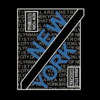 nova iorque tipografia t-shirt gráfico vetor