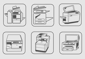 Vector de máquinas fotocopiadoras