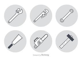 Ícones de vetor de ferramentas de trabalho grátis