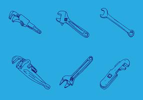 Conjunto de vetores de chave de macaco