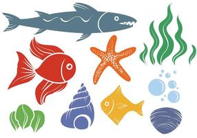 Vetores grátis da vida marinha