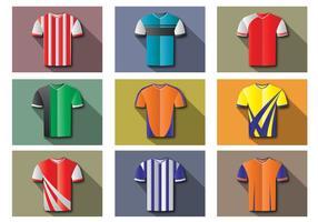 Vetores planos do kit de futebol
