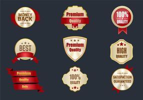 Melhores etiquetas de qualidade vetor