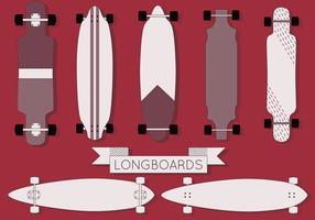 Freeboard Longboard vetor