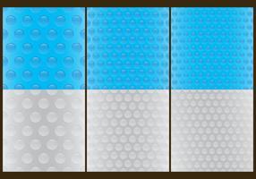 Vetores de padrões de bolha Wrap