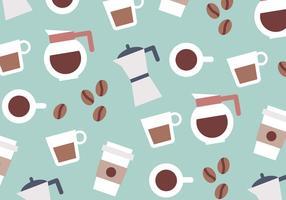 Vector de Padrão Colorido de Café
