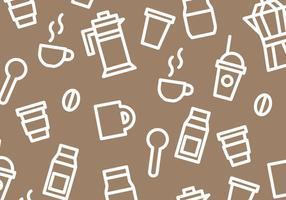 Vector de padrões de café