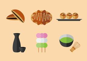 Snack japonês de vetores