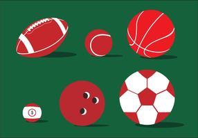 Vetor de ilustração de bola variada