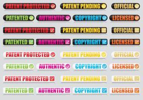 Botões de patente vetor