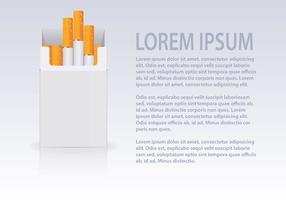 Livre Cigarettes Open Pack Vector