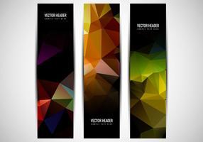 Cabeçalho de polígono colorido vetor livre